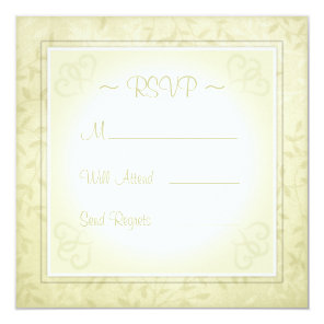 Lemon Lime Spring Leaves Wedding RSVP cards