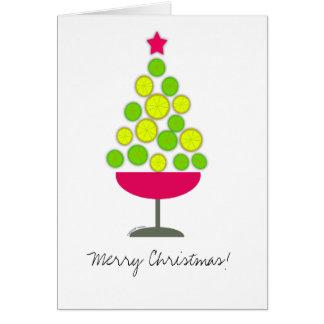 Lemon lime tree in martini glass Card