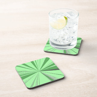 Lemon Lime Vanishing Point Cork Coaster Set