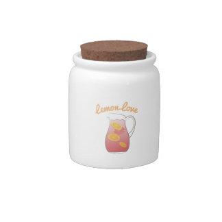 Lemon Love Candy Jar