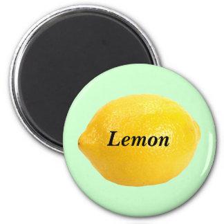 Lemon 2 Inch Round Magnet