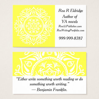 Lemon Mandala Business Card