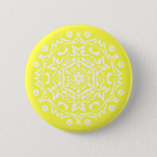 Lemon Mandala Button