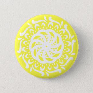 Lemon Mandala Pinback Button