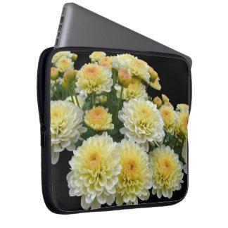 Lemon Meringue Chrysanthemums Computer Sleeve
