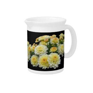 Lemon Meringue Chrysanthemums Pitcher
