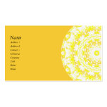Lemon Meringue Kaleidoscope Double-Sided Standard Business Cards (Pack Of 100)