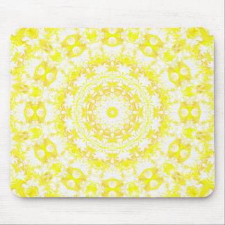Lemon Meringue Kaleidoscope Mouse Pad
