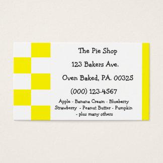 Lemon Meringue Pie Colors Business Card