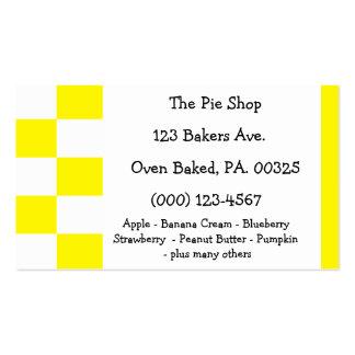 Lemon Meringue Pie Colors Double-Sided Standard Business Cards (Pack Of 100)