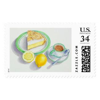 Lemon Meringue Pie with Espresso Postage