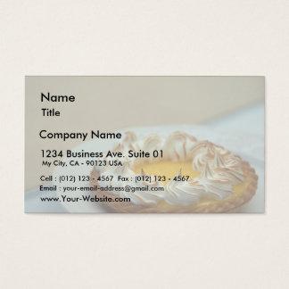 Lemon Meringue Tart Cake Business Card