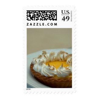 Lemon Meringue Tart Cake Postage Stamps