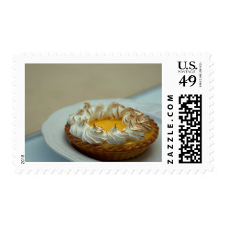 Lemon Meringue Tart Cake Postage Stamp