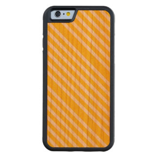 LEMON MERINGUE! (Yellow striped art design) ~ Carved Cherry iPhone 6 Bumper Case