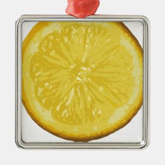 Lemon Metal Ornament