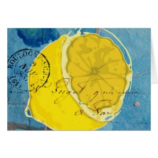 Lemon Mixed Media card