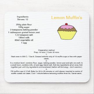 Lemon Muffin Recipe Mouse Pad