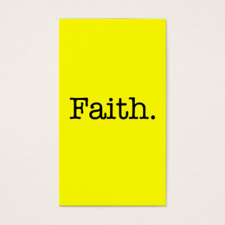 Lemon Neon Yellow And Black Faith Quote Template Business Card