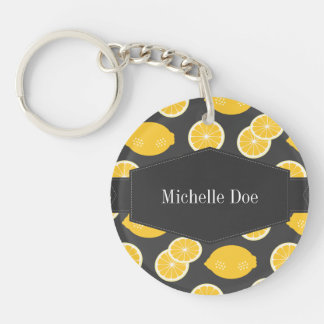 Lemon of Summer Single-Sided Round Acrylic Keychain