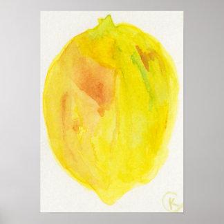 Lemon on White Poster