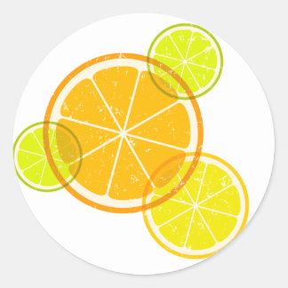 Lemon/orange Classic Round Sticker
