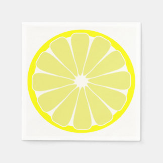 Lemon Paper Party Napkins