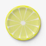 Lemon Paper Plates 7 Inch Paper Plate at Zazzle