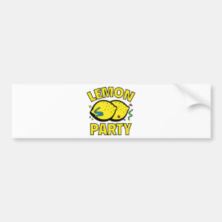 Lemon Party Bumper Sticker