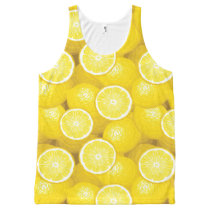 Lemon Pattern 2 All-Over-Print Tank Top
