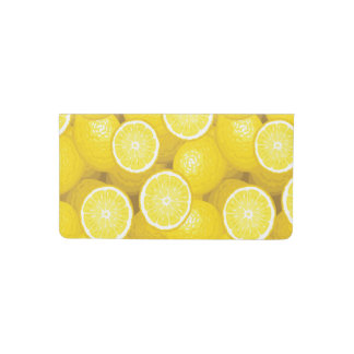 Lemon Pattern 2 Checkbook Cover