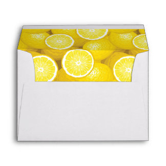 Lemon Pattern 2 Envelopes