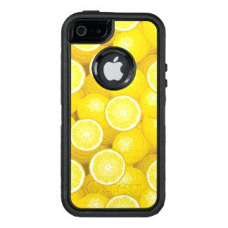 Lemon Pattern 2 OtterBox Defender iPhone Case