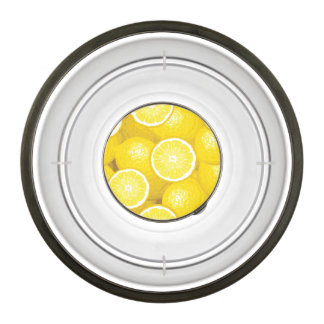 Lemon Pattern 2 Pet Bowl