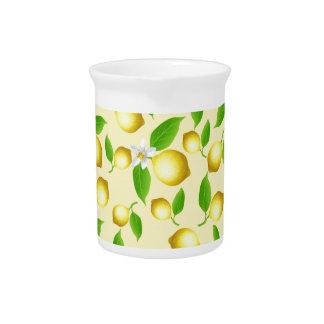 Lemon pattern beverage pitcher