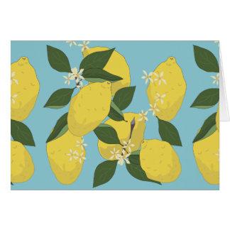 Lemon Pattern Card