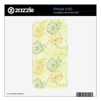 Lemon Pattern Skin For The iPhone 4
