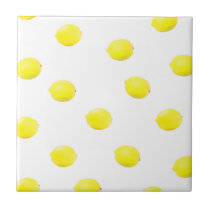 lemon pattern version 2 ceramic tile