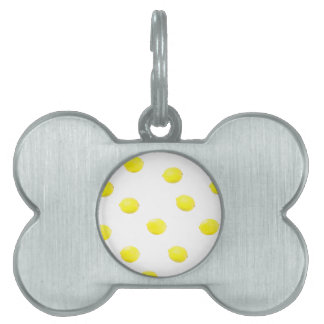 lemon pattern version 2 pet name tag