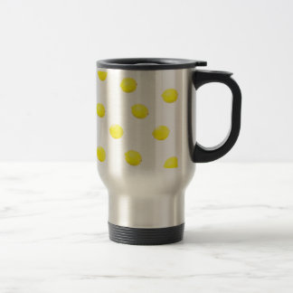 lemon pattern version 2 travel mug