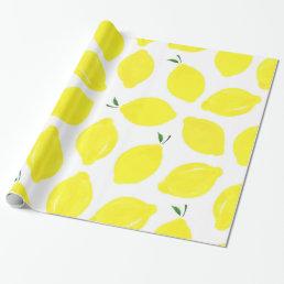 Lemon Pattern Wrapping Paper