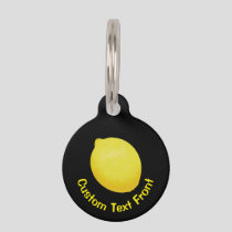 Lemon Pet ID Tag