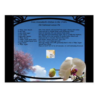 Lemon Pie Recipe Postcard