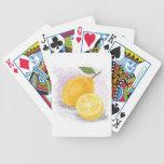 lemon playing cards