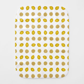 Lemon Print Baby Burp Cloth