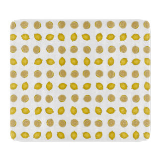 Lemon Print Cutting Board