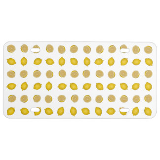 Lemon Print License Plate