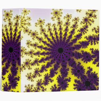 Lemon Purple Fractal Burst Binder