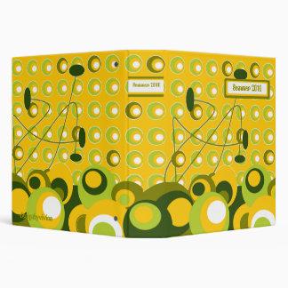 lemon retro dots4, designbyvivian 3 ring binder