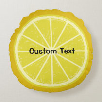 Lemon Round Pillow
